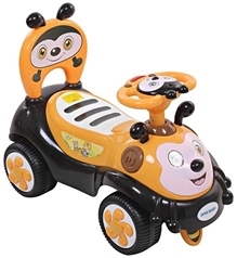 Fab N Funky Manual Push Ride On - Yellow