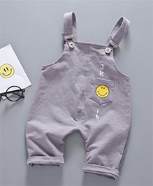 Pre Order - Awabox Smiley Print Dunagree - Grey