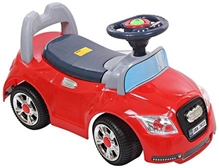 Fab N Funky Red Manul Baby Ride On Car A Fantastic Manul Ride-on Car For Your Little One