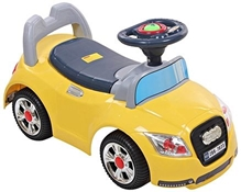 Fab N Funky Yellow Manul Baby Ride On Car A fantastic Manul Ride-on car for your little one