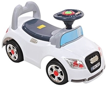 Fab N Funky White Manul Baby Ride On Car A Fantastic Manul Ride-on Car For Your Little One