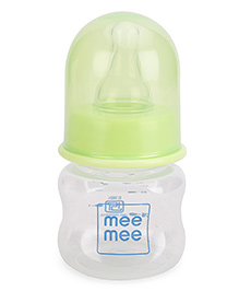 Mee Mee Plastic Premium Feeding Bottle Green - 60 Ml