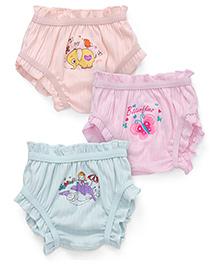 Bodycare Multi Printed Panties Set Of 3 - Light Aqua Light Pink Light Peach