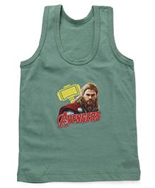Bodycare Sleeveless Vest Avengers Print - Green