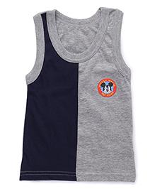Bodycare Sleeveless Vest Mickey Mouse Patch - Navy Grey