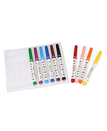 Fibracolor Baby Color Superfine Nib Sketch Pens With Washable Ink - Pack Of 10