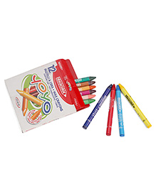 Fibracolor Yoyo Washable Wax Crayons - Pack Of 12