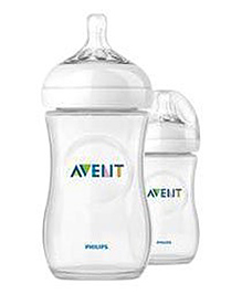 Philips Avent Natural Polypropylene Bottle Size 8 Pack Of 2 - 260 Ml
