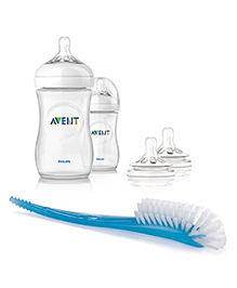 Philips Avent Natural Bottle Pack Of 2 With Nipples And Brush - 260 Ml