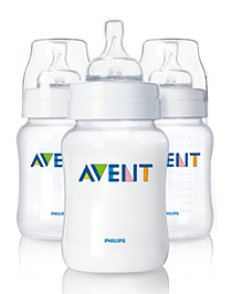 Philips Avent BPA Free Slow Flow Teat Bottles Pack Of 3 - 260ml