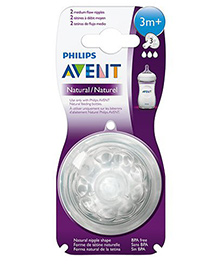 Philips Avent Natural Nipple Medium Flow Pack Of 4 - White