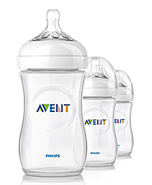 Philips Avent Natural Feeding Bottle Pack Of 3 - 260 Ml