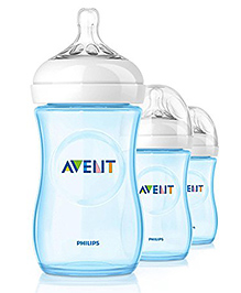 Philips Avent Natural Bottle Pack Of 3 Blue - 260 Ml