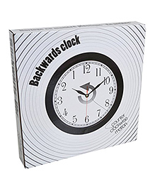 Rhode Island Novelty Md Wholesalers Backwards Clock - Black & White