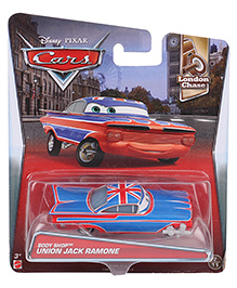Disney Pixar Cars Body Shop Union Jack Ramone - Blue And Red