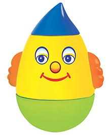 Toyzee Roly Poly Humpty Dumpty Toy - Yellow Blue Green
