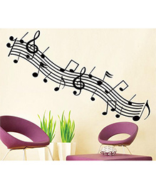 Syga Musical Note Decal Design Wall Stickers - Multicolor