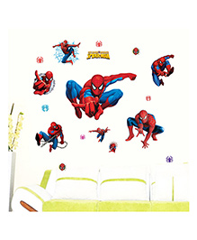 Syga Spider Man Wall Stickers - Blue & Red