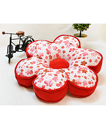 Stybuzz Floral Shape Cushion - Red White