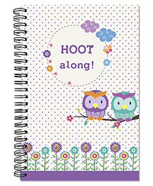 A5 Size Spiral Notebook Owl Theme - Multi Color