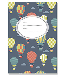 Hot Air Cover Cover A5 Single Note Book - Grey