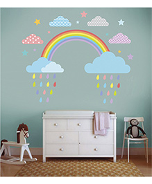 Little Jamun Rainbow Wall Sticker Multi Color - Medium Size