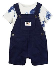 Carter's 2 Piece Top & Shortalls Set - Navy Blue