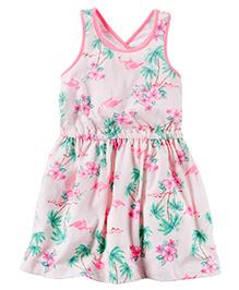 Carter's Flamingo Jersey Dress - Pink