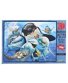 Prime 3D Puzzle Ocean Selfie Multi Color - 500 Pieces