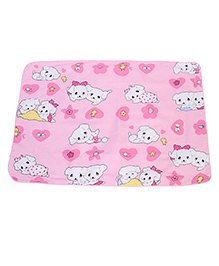 Baby Mat With Puppy  Print - Pink