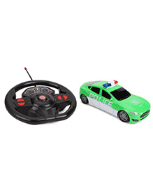 Gravity Sensor Steering Wheel Remote Control Police Car - Green