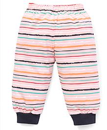 Mini Taurus Striped Track Pant - Peach