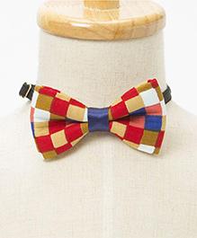 Brown Bows Carnival Checks Bow - Multicolor