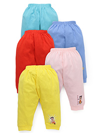 Chhota Bheem Track Pants Pack Of 5 - Yellow Pink Blue Red