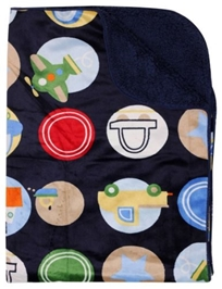 Carter - Blanket with Vehicle Print