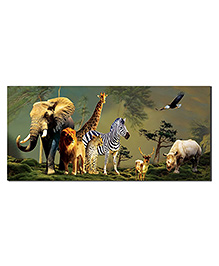 Ultra Cat Jungle Animals Design Envelopes With Special 3D Effects Pack Of 5 - Multicolor