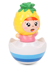 ToyFactory Pineapple Roly Poly Toy - Yellow