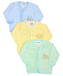 Babyhug Checks Full Sleeves Cotton Vest