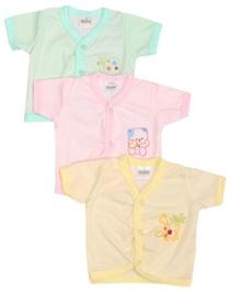 Babyhug Striped Half Sleeves Cotton Vest