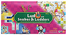 Toysbox Ludo Snakes & Ladders Game - 29 X 29 cm