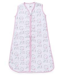 Hudson Baby Muslin Sleeping Bag - Pink - 1411468