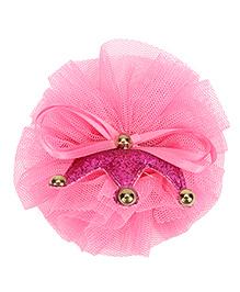 Bowtastic Crown Clip - Dark Pink