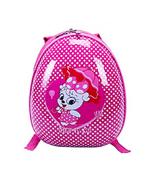 T-Bags Cute Cat Print Hard Shell Backpack Pink - 10 Inches - 1415818