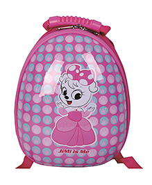 T-Bags Cute Cat Print Hard Shell Backpack Pink - 10 Inches