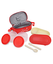 Cello Full On Lunch Box With Bag - Red