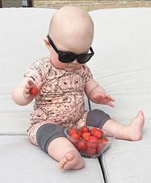 Dazzling DollsCrawling Baby Knee Pad - Dark Grey