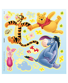 Decofun The Winnie The Pooh Glow In Dark Wall Sticker - Yellow Blue