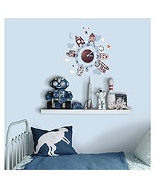 Home Decor Line House Theme Wall Sticker - Multi Color