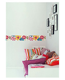 Home Decor Line Floral Wall Sticker - Multi Color
