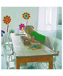 Home Decor Line Garden Wall Sticker - Multi Color